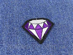 Нашивка бриллиант фиолетовый 50х40 мм