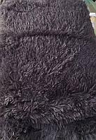 Покрывало на кровать меховое однотонное цвет мокрый асфальт 220х240, фото 1