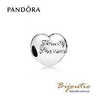 Шарм-клипса СЕМЬЯ НАВСЕГДА Pandora #796204 серебро 925 Пандора оригинал