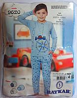 Пижама для мальчиков 6 лет Размер 116-122 Голубой Хлопок 09907(116-122) Baykar Турция