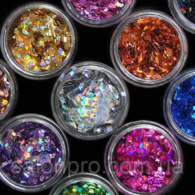 Набор ромбиков для дизайна ногтей Beauty sky, 12 шт