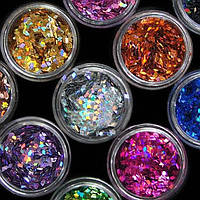 Набор ромбиков для дизайна ногтей Beauty sky, 12 шт, фото 1