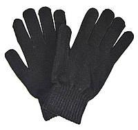 Перчатки мужские трикотажные черные - длина 24 см