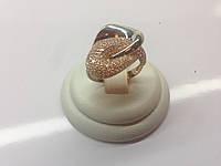 Эксклюзивное комбинированное женское золотое кольцо 585*
