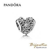 Pandora шарм ЦВЕТУЩЕЕ СЕРДЦЕ #796264CZ серебро 925 Пандора оригинал