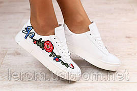 Кожаные кеды с вышивкой .Стиль Dolce & Gabbana