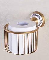 Бронзовый держатель запасного рулона туалетной бумаги Deco бронза
