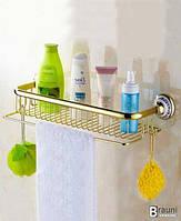 Art Design Полка в ванную Deco Gold золото