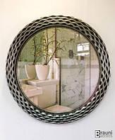 Зеркало настенное в ванную круглое Piramide 0109 серебро