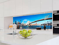 Кухонный фартук из стекла  с изображением города остров Манхэттен
