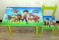 Столик и 2 стульчика Щенячий патруль, 6 видов, Украина