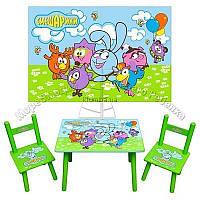Столик и 2 стульчика Смешарики, 6 видов, Украина