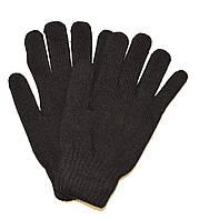 Перчатки мужские трикотажные двойные - длина 25 см