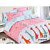 Постельное белье Viluta в кроватку Сатин хлопок 100% жирафы
