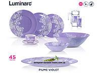 Piume Violet Сервиз столовый 46 пр. Luminarc N2627, фото 1