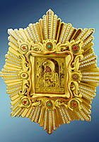 Спускная икона Почаевской Богородицы (дерево, позолота)