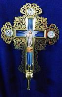 Запрестольный крест с камнями латунный