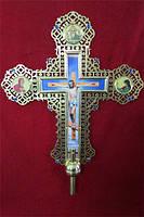Крест запрестольный большой из латуни 70 на 80см