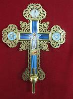 Большой крест с камнями (латунный) 67 на 95см
