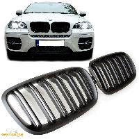 Решетка радиатора ноздри BMW X6 E71 M стиль черный мат