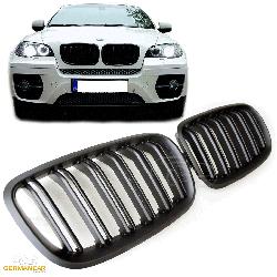 Решетка радиатора BMW X6 E71 ноздри M стиль ( черный мат )