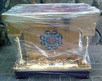 Подставка под ковчег средняя из латуни с эмалью