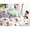 Постельное белье Viluta в кроватку на резинке ,  Сатин хлопок 100% арт. 141