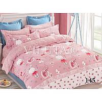 Постельное белье Вилюта в кроватку на резинке ,  Сатин хлопок 100% арт. 145