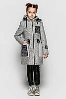 Детское пальто для девочки букле