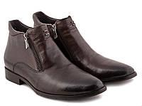 Мужские Ботинки на меху Коричневый, 40