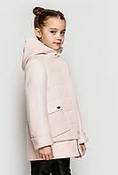 Комбинированное пальто для девочки