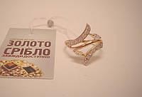 Кольцо золотое женское с камнями, размер 17. Вес 3,37 грамм.