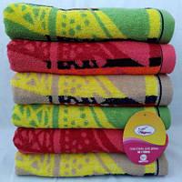 Красивые яркие  махровые  полотенца для лица . Размер: 1,0 x 0,5