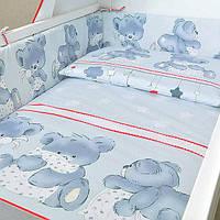 """Постельное белье для новорожденных """"Ведмедик"""" бортики с двух частей , фото 1"""