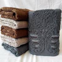 Махровые полотенца для бани в тёмных тонах . Размер: 1,4 x 0,7