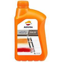Вилочное масло REPSOL Moto Fork Oil 5W ( 1л ) синтетика Испания