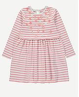 Нарядное полосатое платье со цветочками для девочки
