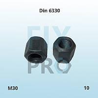 Гайка высокопрочная высокая шестигранная Din 6330 M30 класс прочности 10 ГОСТ 15523-70