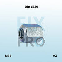 Гайка нержавеющая высокая шестигранная Din 6330 M33 A2 ГОСТ 15523-70