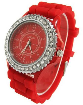 Годинники жіночі GENEVA Luxury Женева Червоні, фото 2