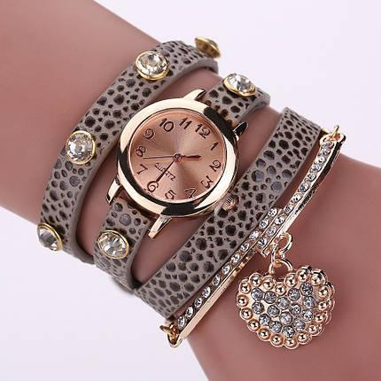 Часы-браслет длинные, наматывающиеся на руку Пепельные 089-2, фото 2