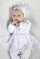 Набор на выписку из роддома для новорожденных 03-00627 (для девочки) Модный карапуз Белый