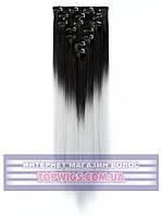Трессы - волосы на клипсах Helen (Термоволосы): цвет 1BT4110