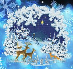 Схема для вышивания бисером Зимняя сказка