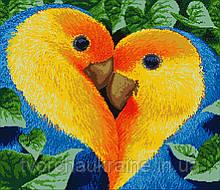 Схема для вышивания бисером Одно сердце на двоих