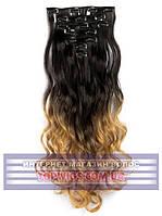Накладные волосы на заколках Rebecca (Термоволосы): цвет 1BT27