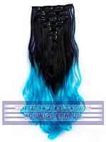 Накладные волосы на заколках - трессы Rebecca (Термоволосы): цвет 1BT4535