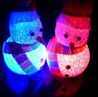 Мини светильник хамелеон Снеговик Кристалл, минисветильник, фото 2