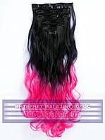 Накладные волосы на заколках - трессы Rebecca (Термоволосы): цвет 1BTPink