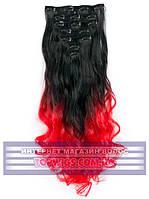 Накладные волосы на заколках - трессы Rebecca (Термоволосы): цвет 1BTRed